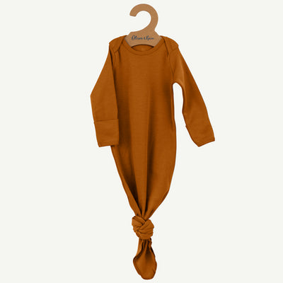 Pima cotton baby gown | Copper