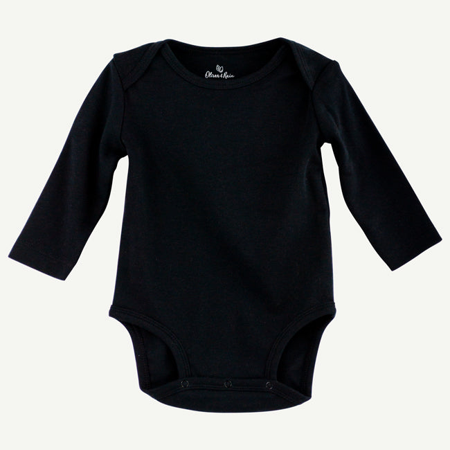 Bodysuit | Black pima cotton