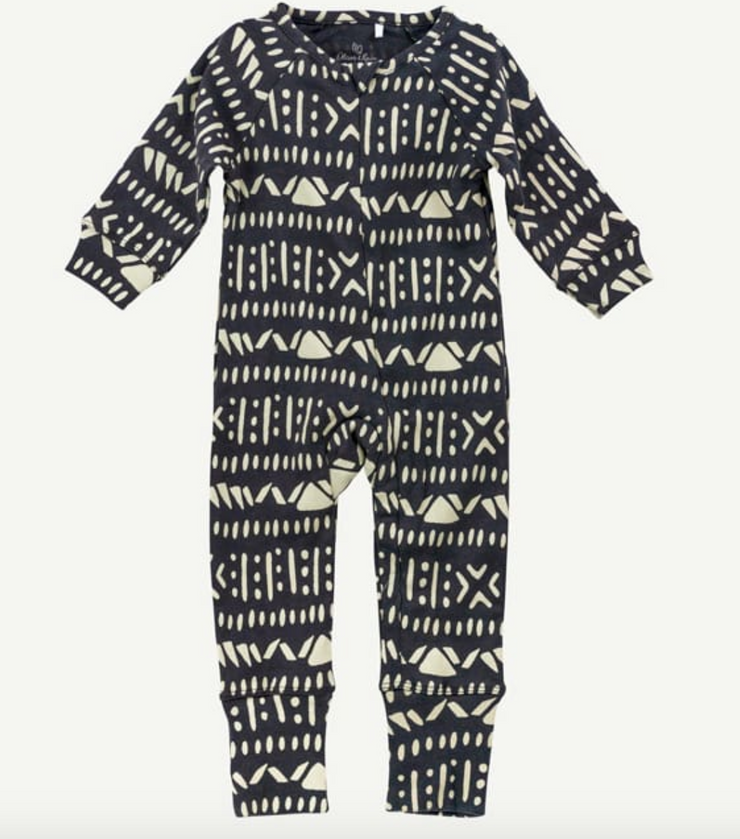Charcoal Aztec print Union suit
