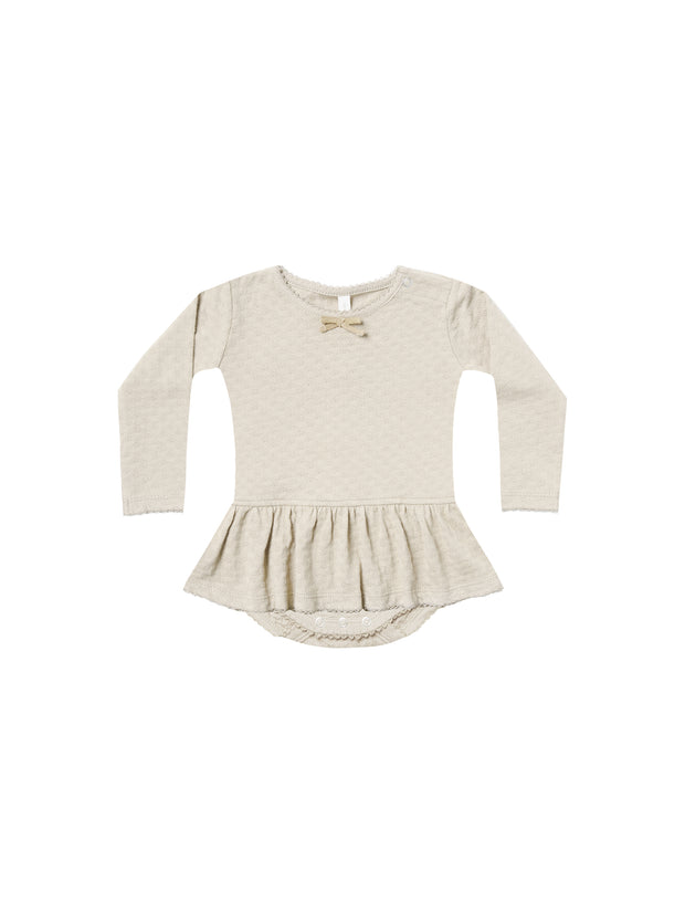 POINTELLE SKIRTED ONESIE | Pebble