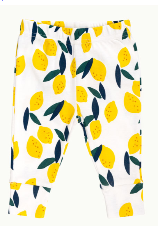 Lemon Lemon 2 piece pajamas