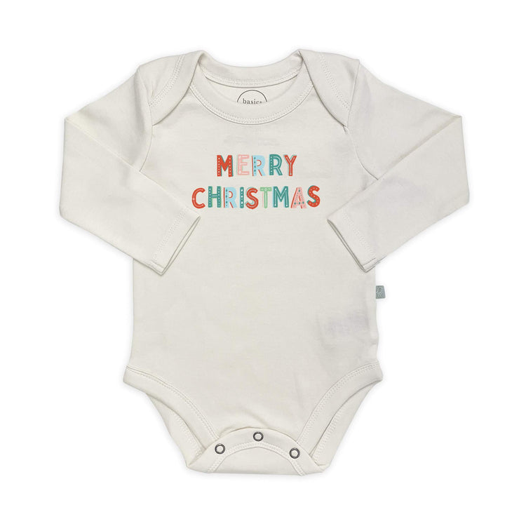 Merry Christmas Long sleeve Graphic Bodysuit