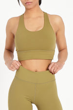 Khaki Essentials Sports Bra