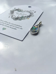 Droplet pendent - ashes, flowers, milk or hair lock