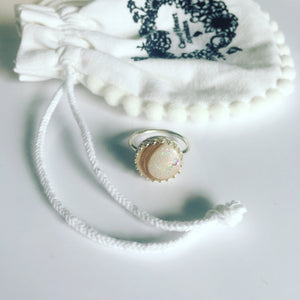 "The ""crown"" keepsake ring - lock of hair, ashes or breast milk"