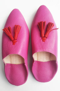 Zwina Hot Pink Babouches