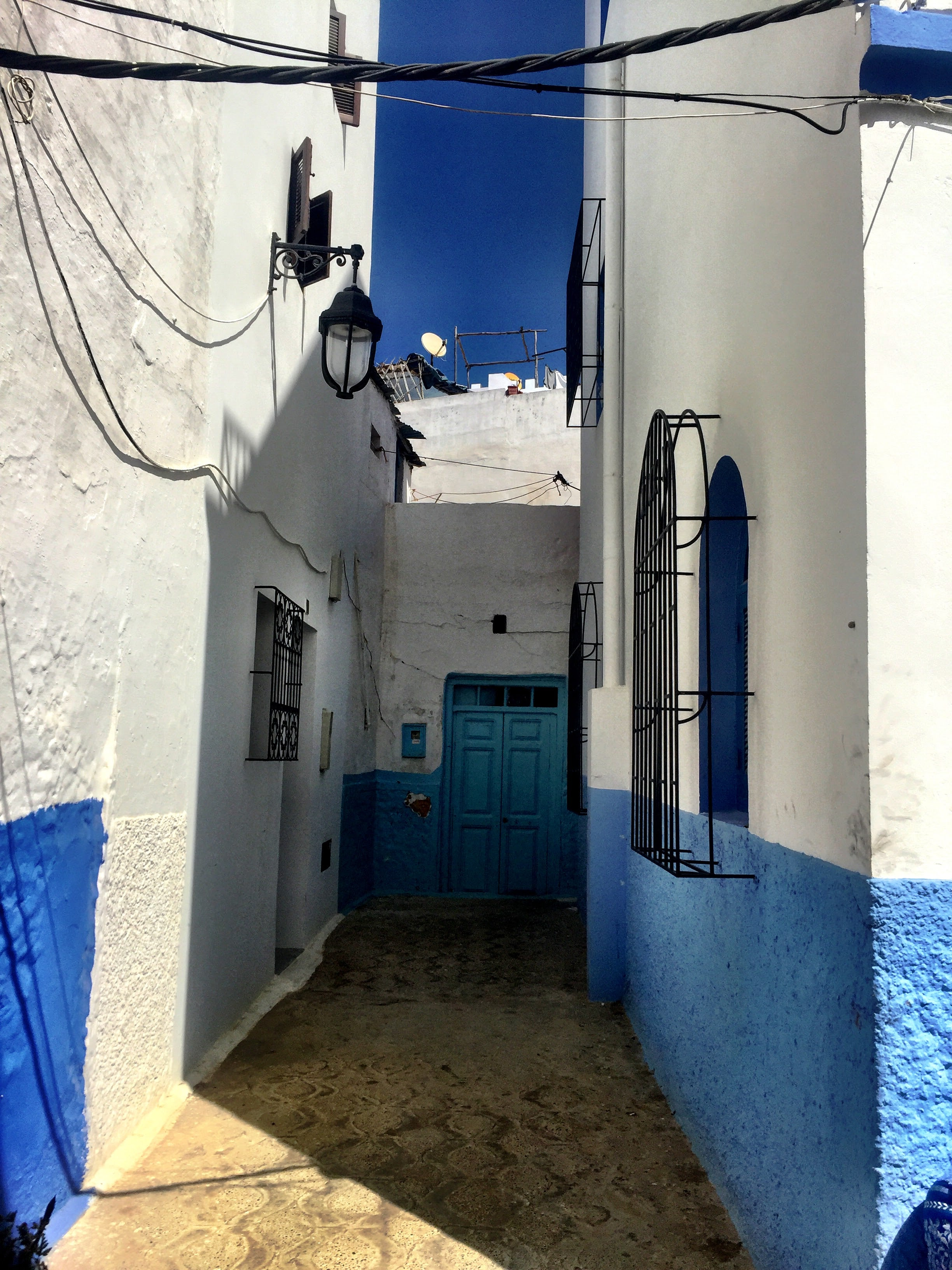 Assilah, a beautiful coastal fishing town in Morocco awash will bright blue hues