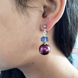 CLIP ON EARRINGS - Mauve Lusha earrings