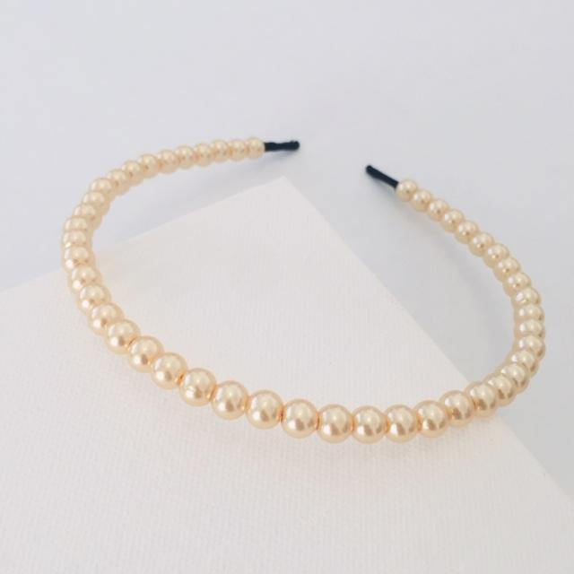 Light gold pearl Alice Band