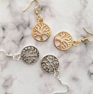 Silver Tree of Life earrings - Zees Fashion