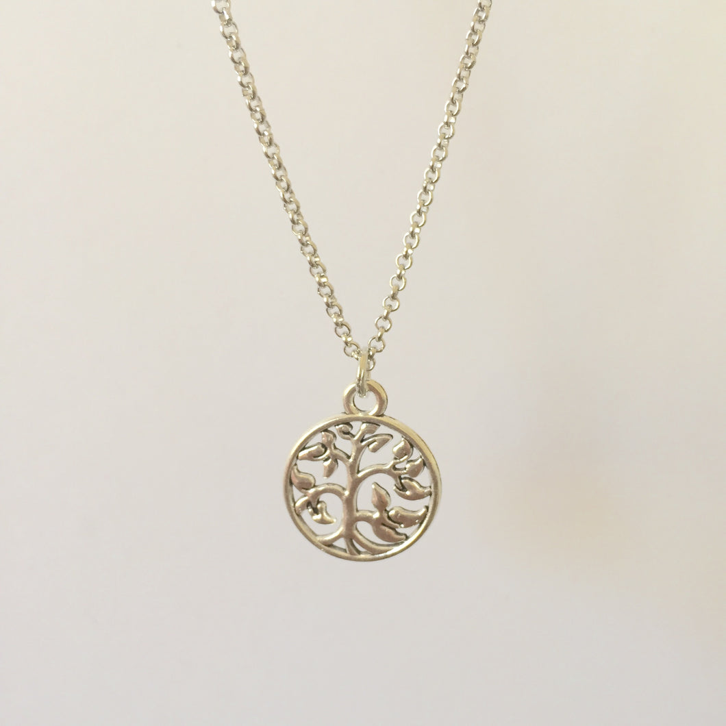 Silver Tree of Life chain necklace (free gift box) - Zees Fashion