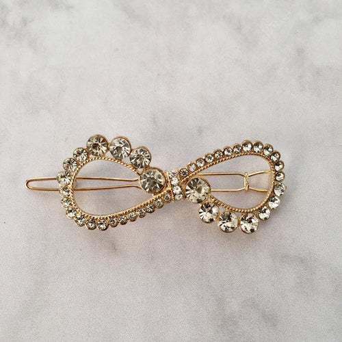 Gold Bow hair clip - Zees Fashion