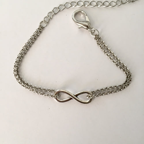 Silver Infinity anklet (free gift bag) - Zees Fashion