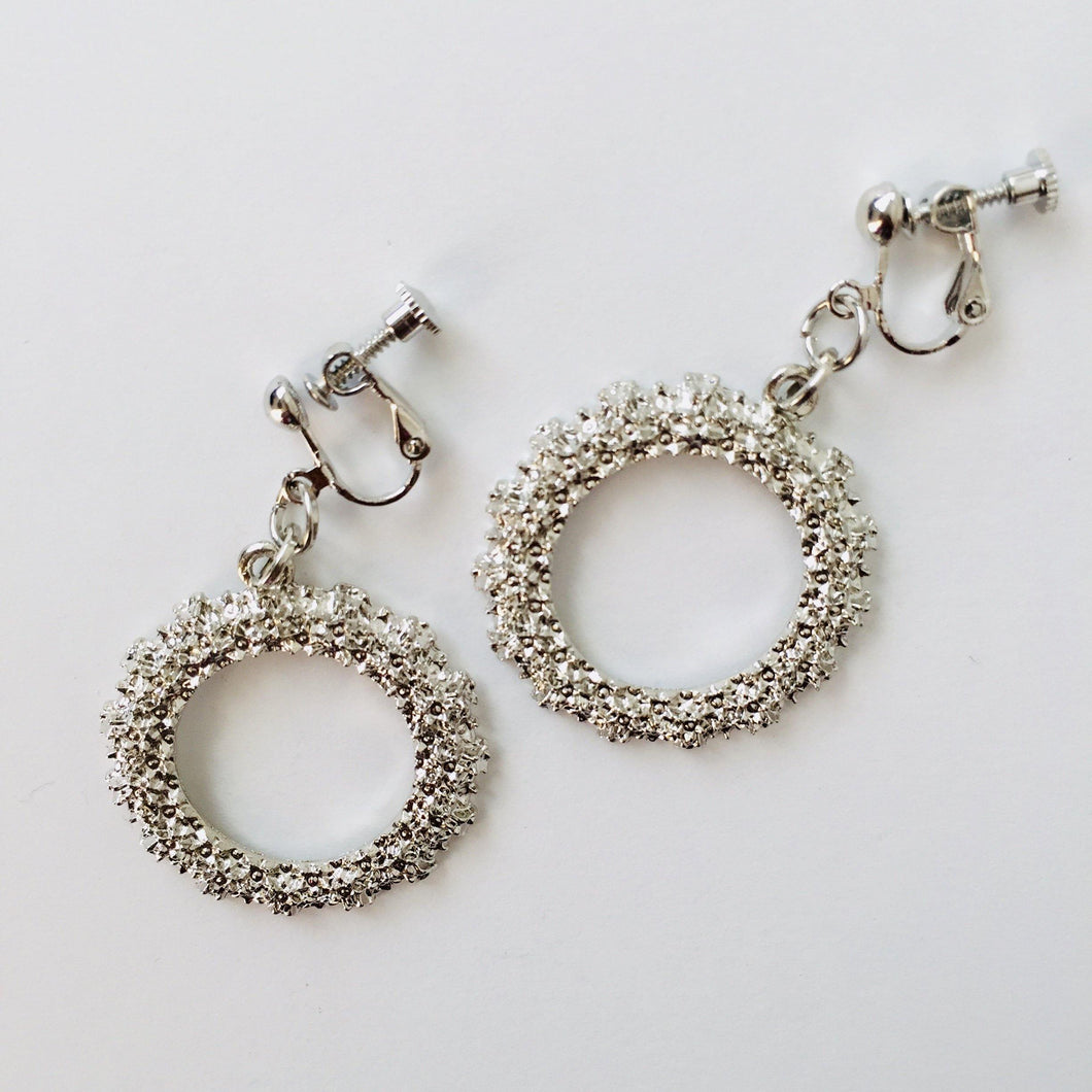 CLIP ON EARRINGS - Round textued earrings - Zees Fashion