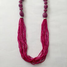 Load image into Gallery viewer, Magenta long necklace - Zees Fashion