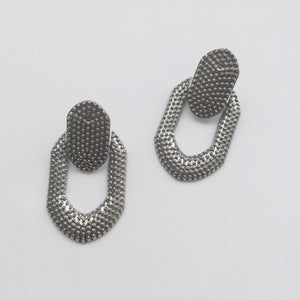 Sabra gun metal earrings