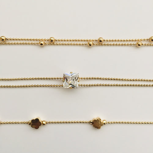 Zasha gold anklet set (free gift bag)