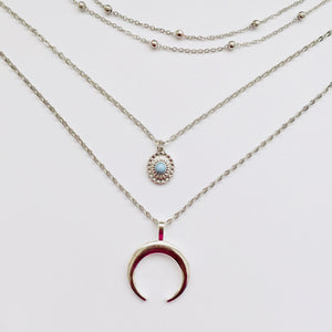 Cara silver chain necklace(free gift box)