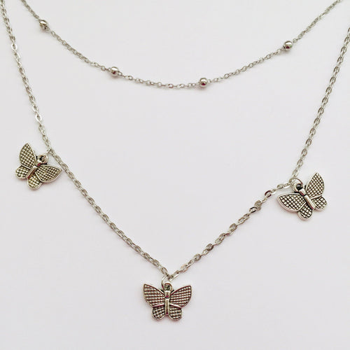Butterfly necklace (free gift box)