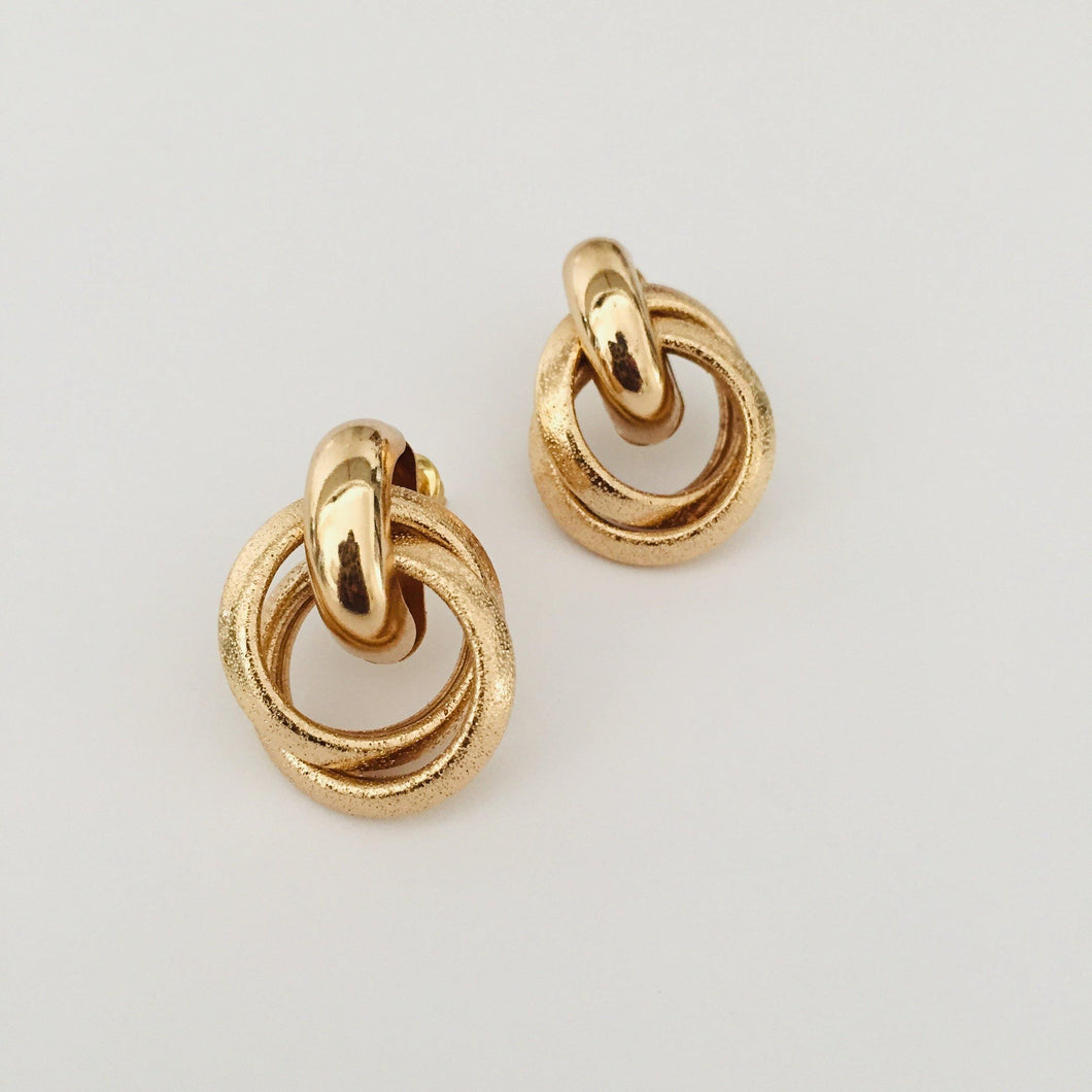 Gold Milou earrings
