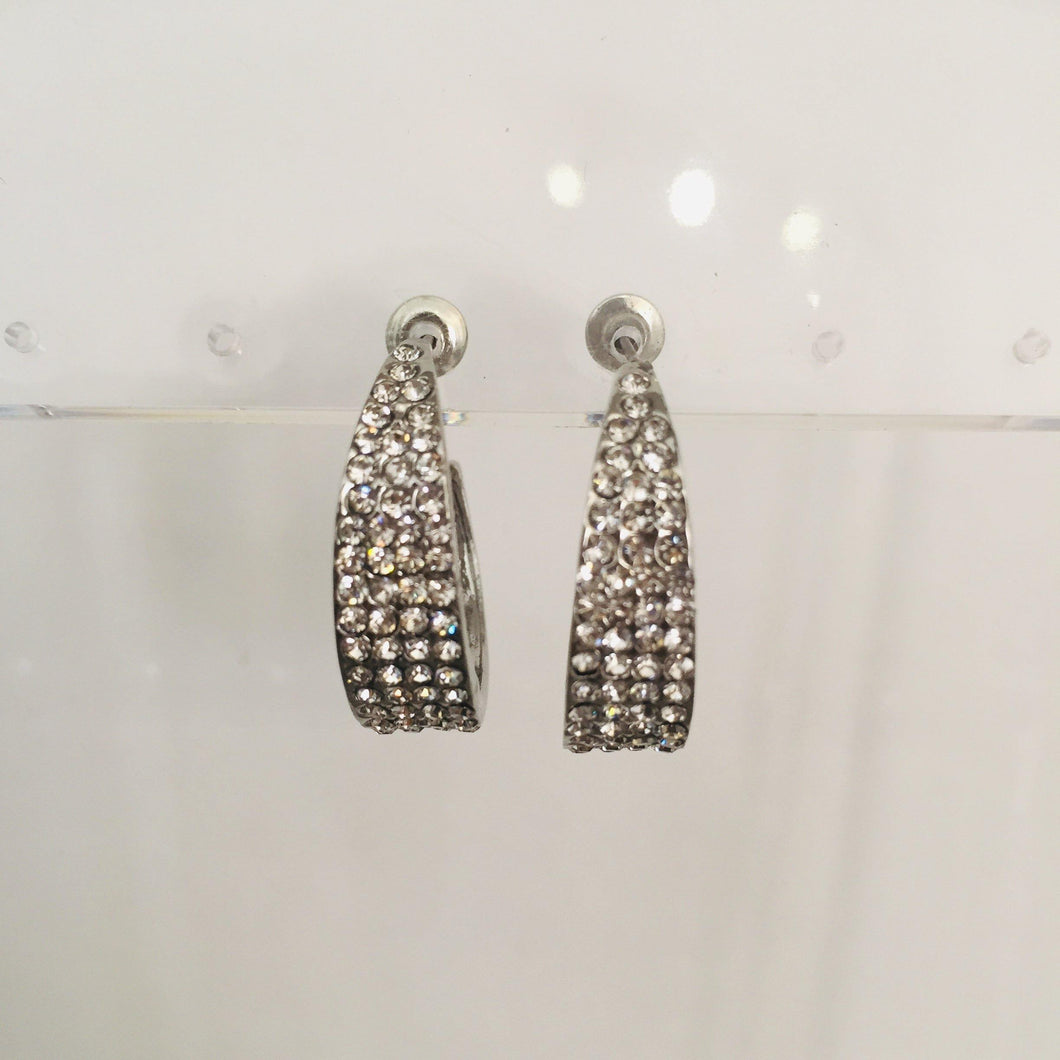 Elisa silver diamante earrings