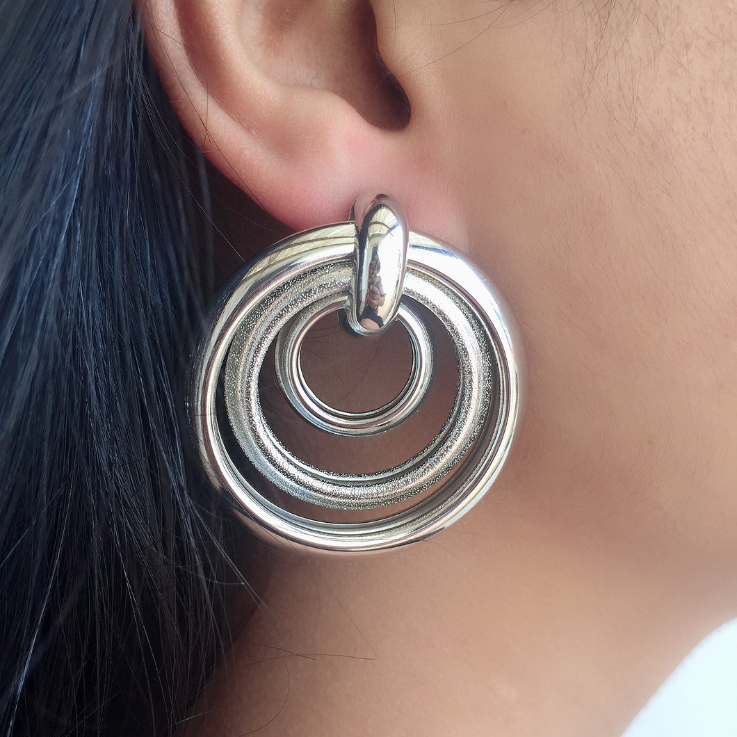Silver Rosa Earrings