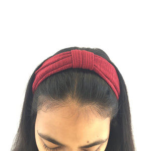 Maroon top knot headband (not an Alice Band)