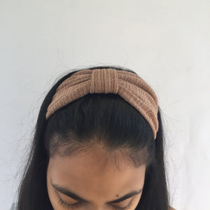 Light brown top knot headband (not an Alice Band)