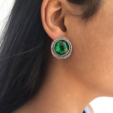 Load image into Gallery viewer, Green Riku earrings