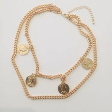Load image into Gallery viewer, Claire double gold necklace (Free gift box)