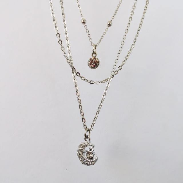 Lilou silver chain necklace (free gift box)