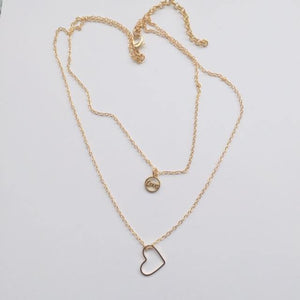 "Gold ""Love"" chain necklace set (free gift box)"