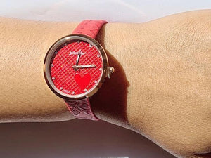 Julia red watch (free gift box & extra battery)