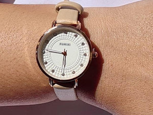 Celia beige watch (free gift box and extra battery)