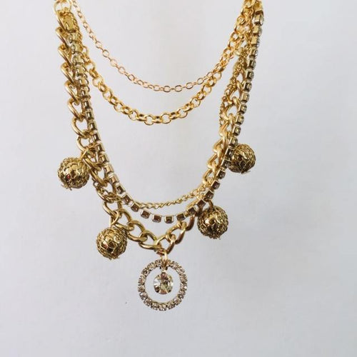 Giselle gold chain necklace (free gift box)