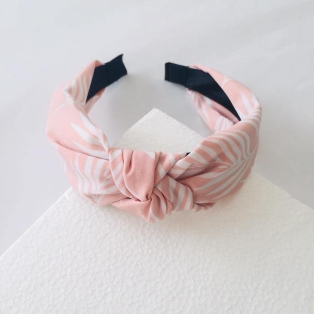 Pink and White Island Alice Band