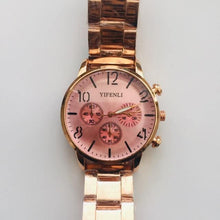 Load image into Gallery viewer, Lucia rose gold watch (free gift box & battery)