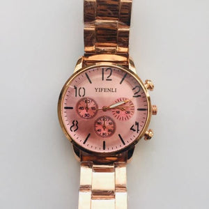 Lucia rose gold watch (free gift box & battery)