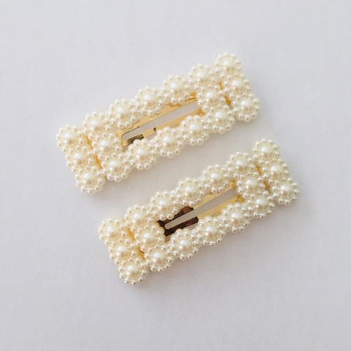 Jana cream hair clip set (2)