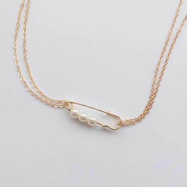 Amida gold chain necklace (free gift box)