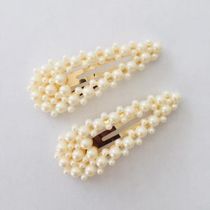 Blisse cream hair clip set (2)