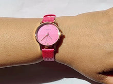 Load image into Gallery viewer, Bright pink watch (free gift box & an extra watch battery)