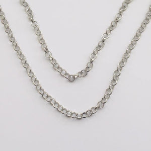 Double silver chunky chain necklace (free gift box)