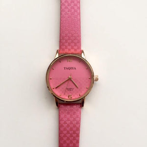 Bright pink watch (free gift box & an extra watch battery)