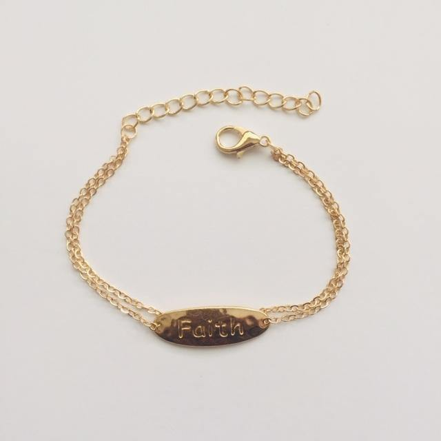 Faith gold chain Anklet (free gift bag)
