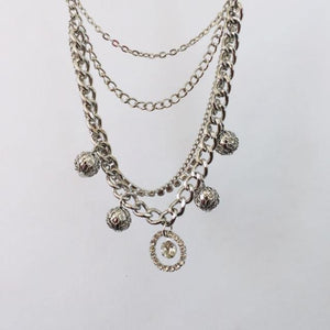 Giselle silver chain necklace (free gift box)