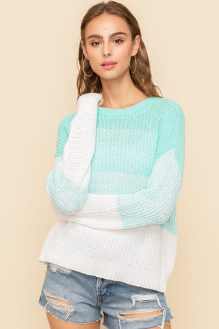 Blue Mint Ombré Sweater