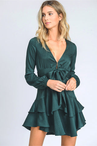 Emerald Ruffled Mini