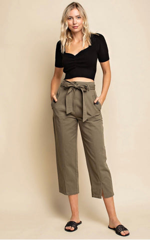 Olive Cotton Pants