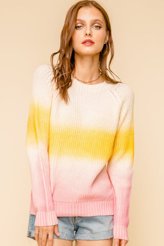 Blush Ombré Sweater